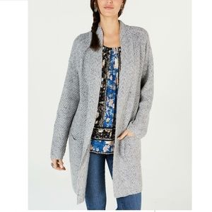 Style&Co XL Light Grey Duster Cardigan 4Z68